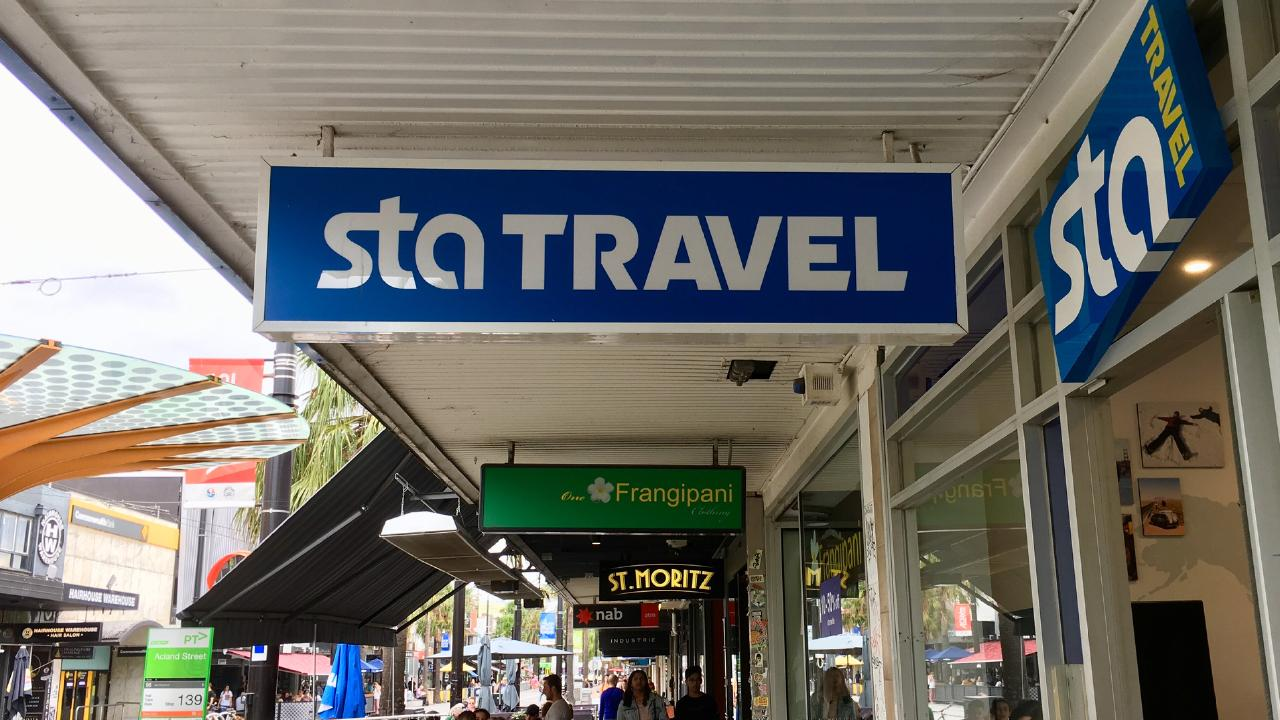 Street view of a STA Travel agency in St Kilda, Victoria. The youth travel company has almost 60 stores across Australia