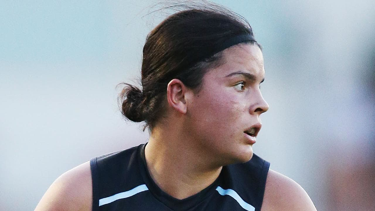 Carlton's Madison Prespakis says playing in the AFLW grand final ticks off an item on her bucket list. Picture: Getty Images