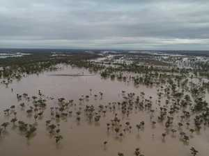 Drone footage of flooding in Quilpie
