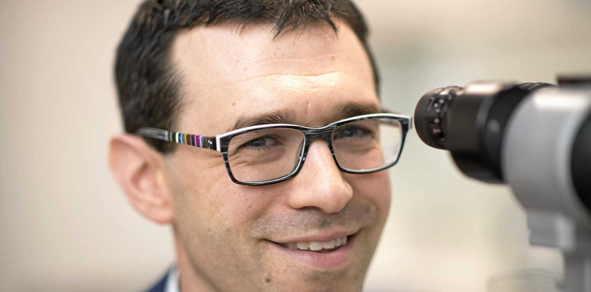 EYE HEALTH: Opthamologist Dr Simon Skalicky suggests regular testing as a way to beat glaucoma.