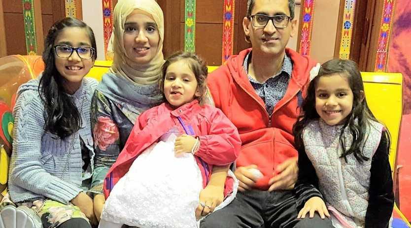 Ripley family Emaan Ismail, Shumaila Ismail, Muhammad Ismail Masood, Zainab Ismail and Aisha Ismail.