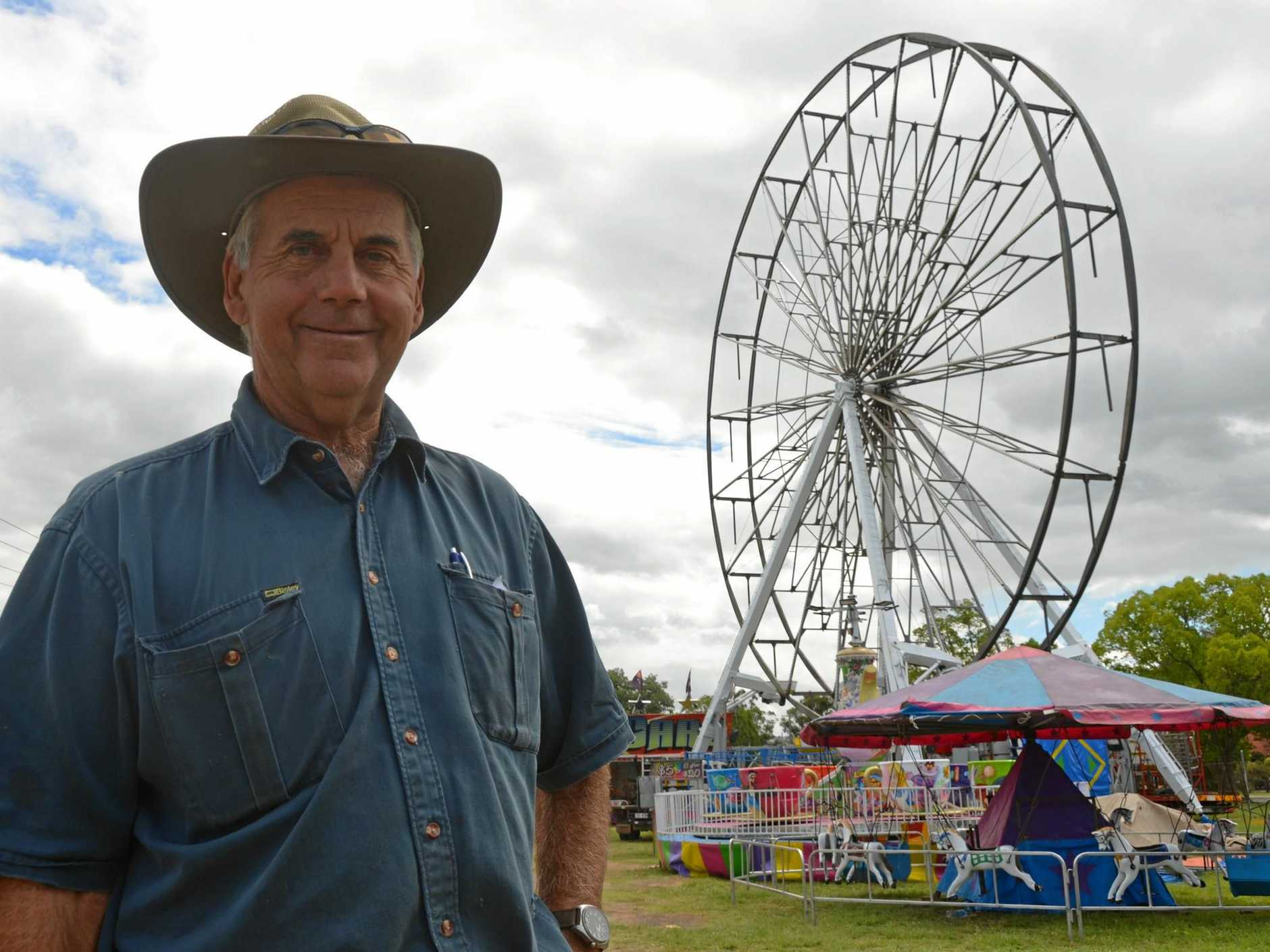 Nanango Show Society president Les Schloss is excited for the 110th Nanango Show.