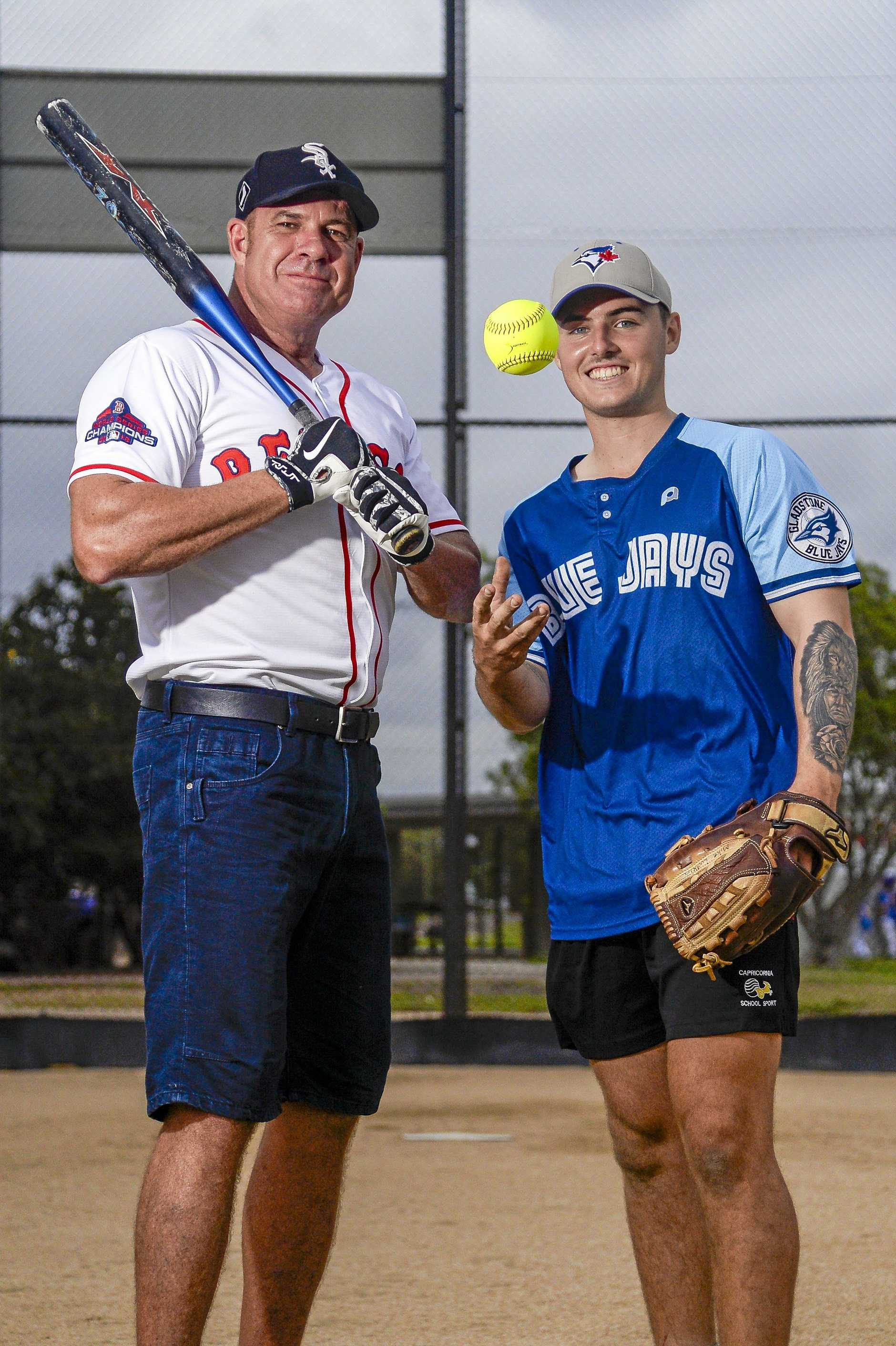 Nigel Jones from Red Sox, Michael Ludkin from Blue Jays are looking forward to this weekend's grand final in Gladstone.