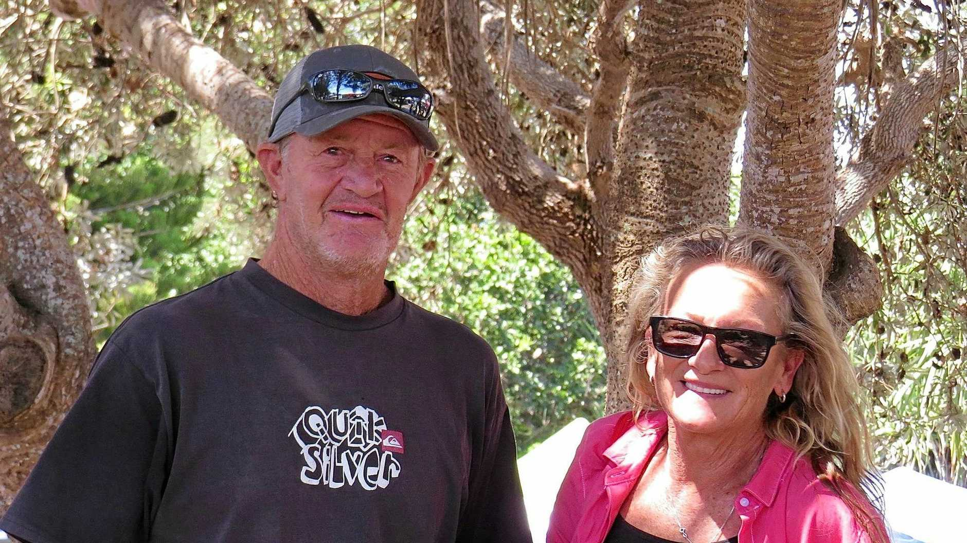 David Treloar with Jane Towner at the Yamba Markets last month.