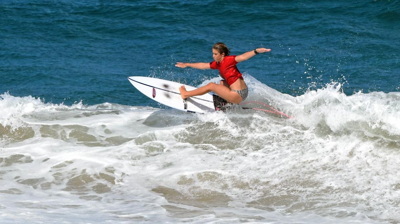 GOING HARD: Heilala Phillips in action on day one of the 2019 Barney Miller Classic at Sawtell.