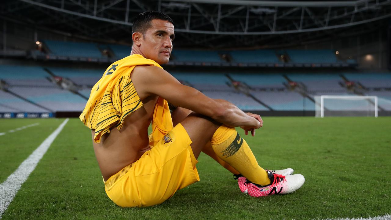 SYDNEY, AUSTRALIA - NOVEMBER 20: Tim Cahill of Australia poses for a portrait after playing his final match as a Socceroo following the International Friendly Match between the Australian Socceroos and Lebanon at ANZ Stadium on November 20, 2018 in Sydney, Australia. (Photo by Cameron Spencer/Getty Images)