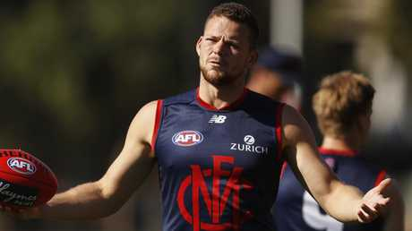 Steven May is struggling with a groin injury. Picture: AAP