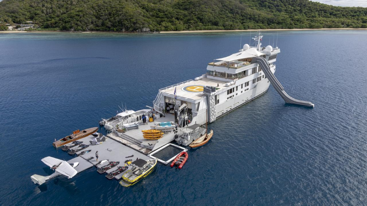 One of the world's most notable expedition superyachts, M/Y SuRi has docked at Gold Coast City Marina & Shipyard (GCCM) for major repair and refit work.