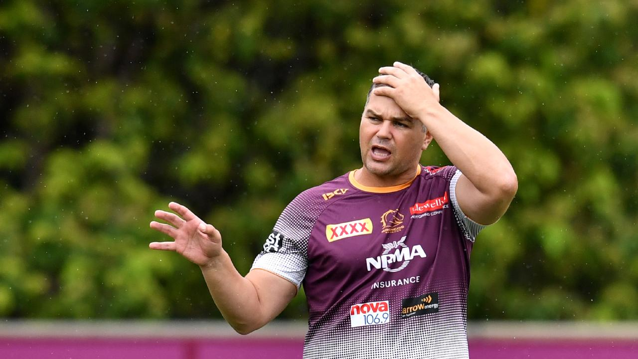 Broncos coach Anthony Seibold has issued a reality check to his young forwards. Picture: AAP Image/Darren England
