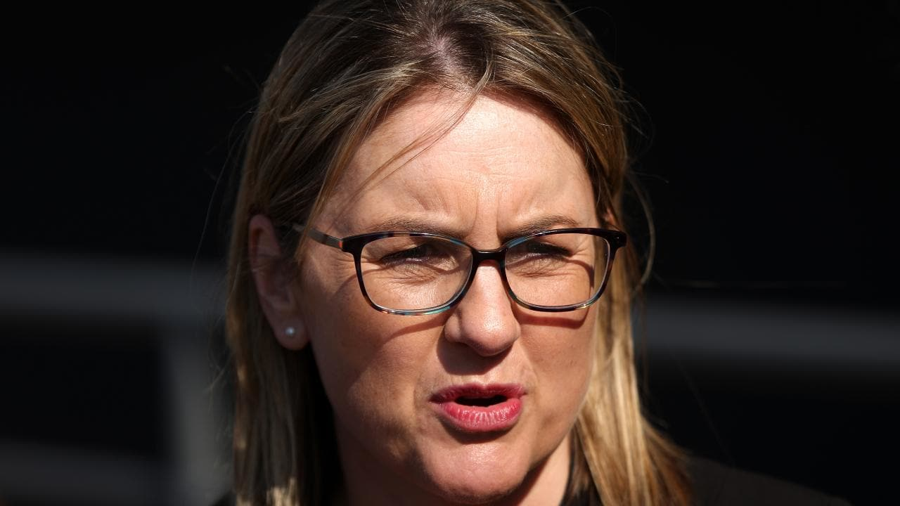 Jacinta Allan MP says the Liberals fast rail plan is a pipedream. Picture: Hamish Blair