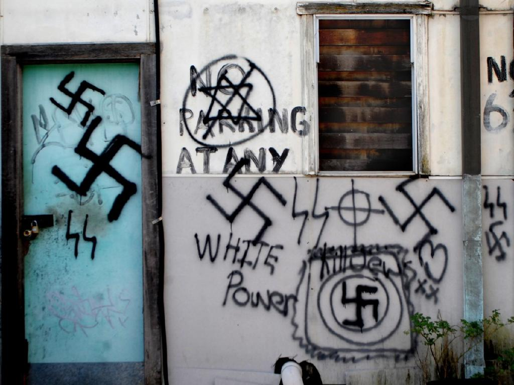 The graffiti was reportedly there for a month before it was painted over by the council.