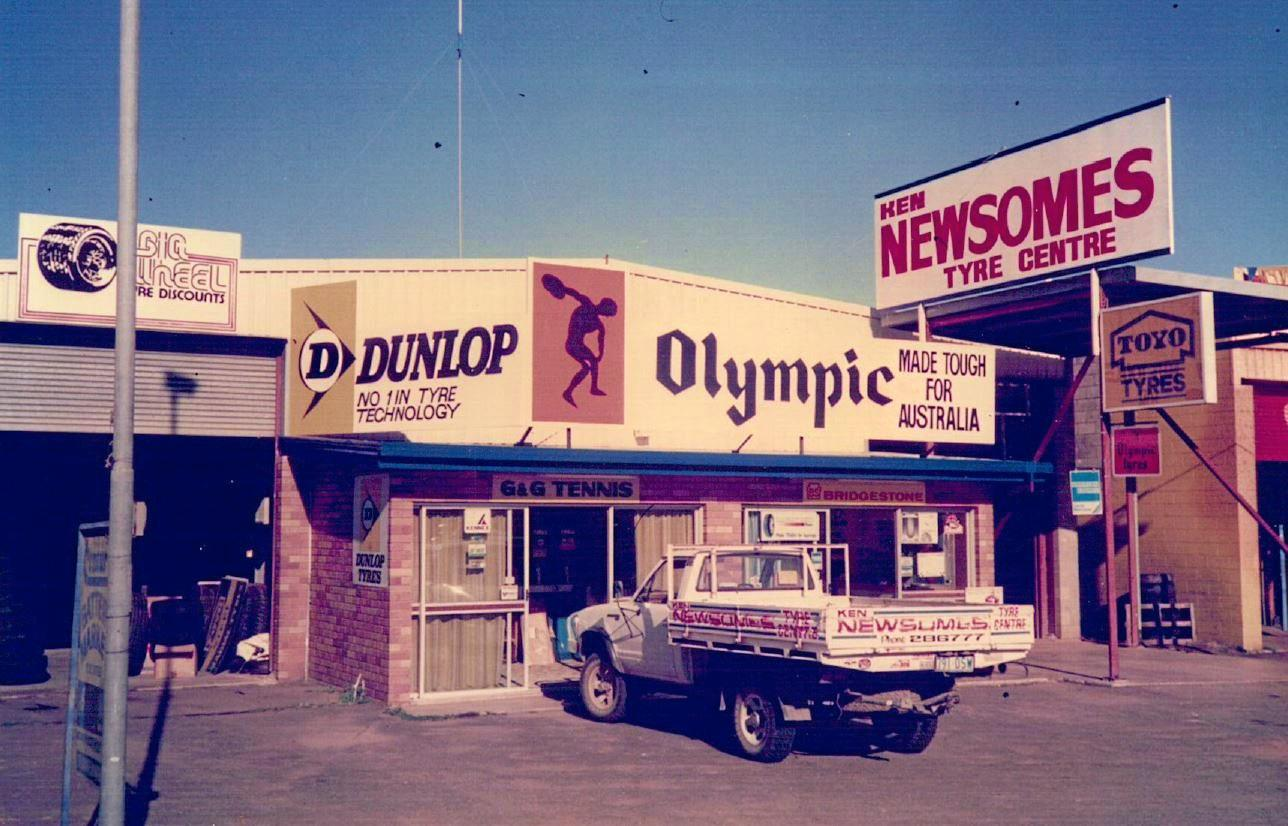 Ken Newsome's Tyre Centre opened on April 1, 1979, at 395 Yaamba Rd, North Rockhampton.
