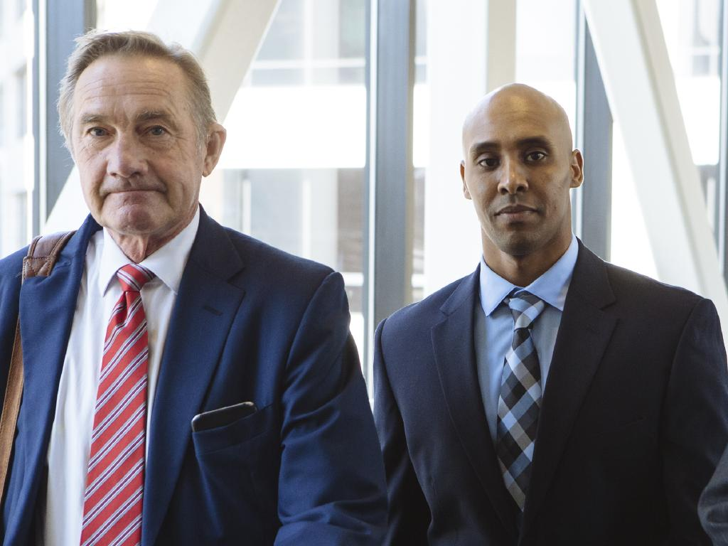 Mohamed Noor looked straight into the camera as he left his pre trial hearing on Friday.
