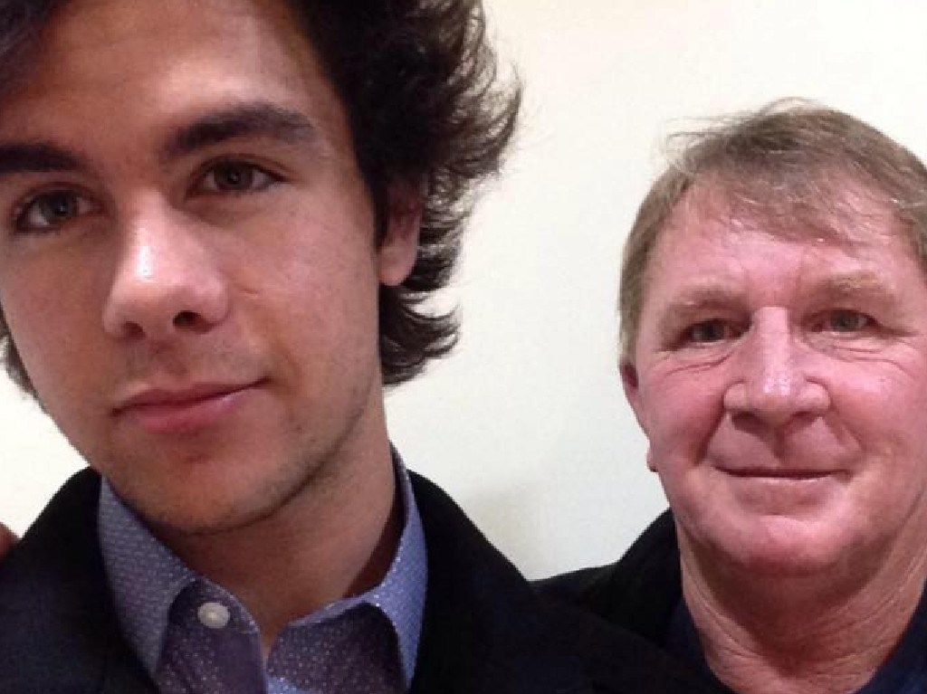 Shane Rose pictured with his foster carer Ronald Willoughby, who pleaded guilty to indecent assault and aggravated sexual assault.