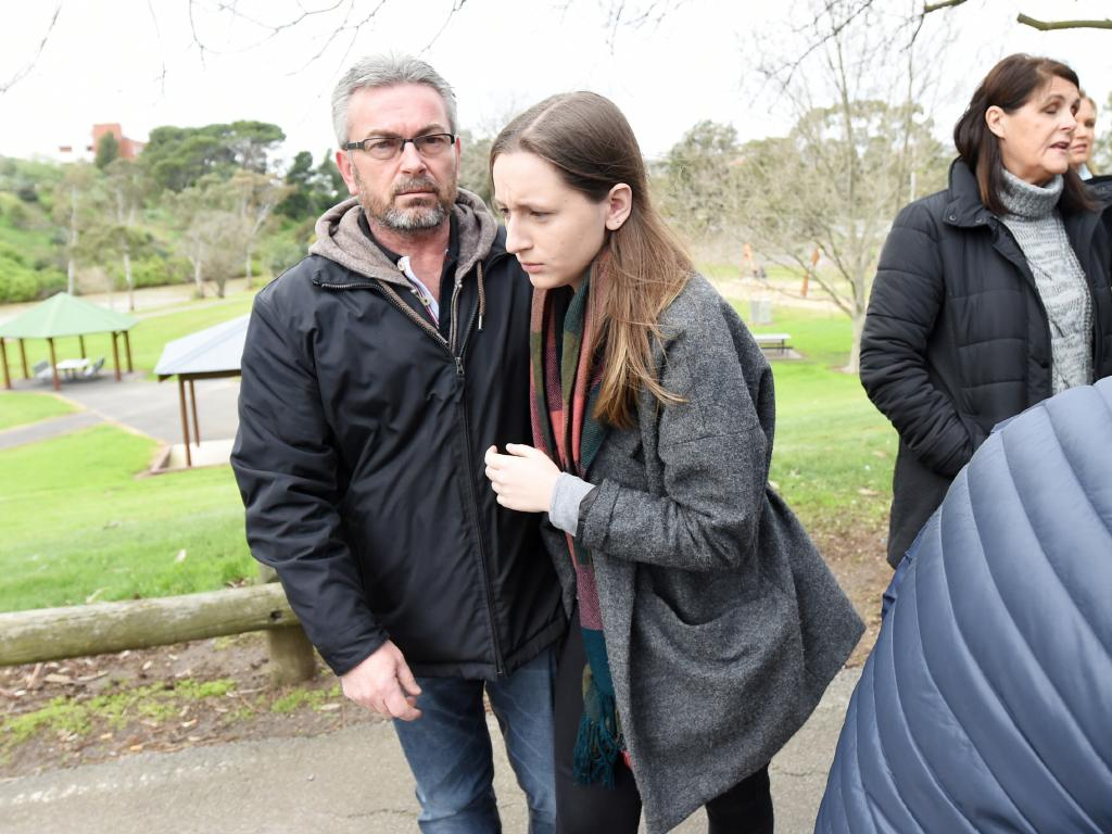 Sarah's character reference was written after he pleaded guilty to killing her mother Karen. Picture: Tracey Nearmy/AAP