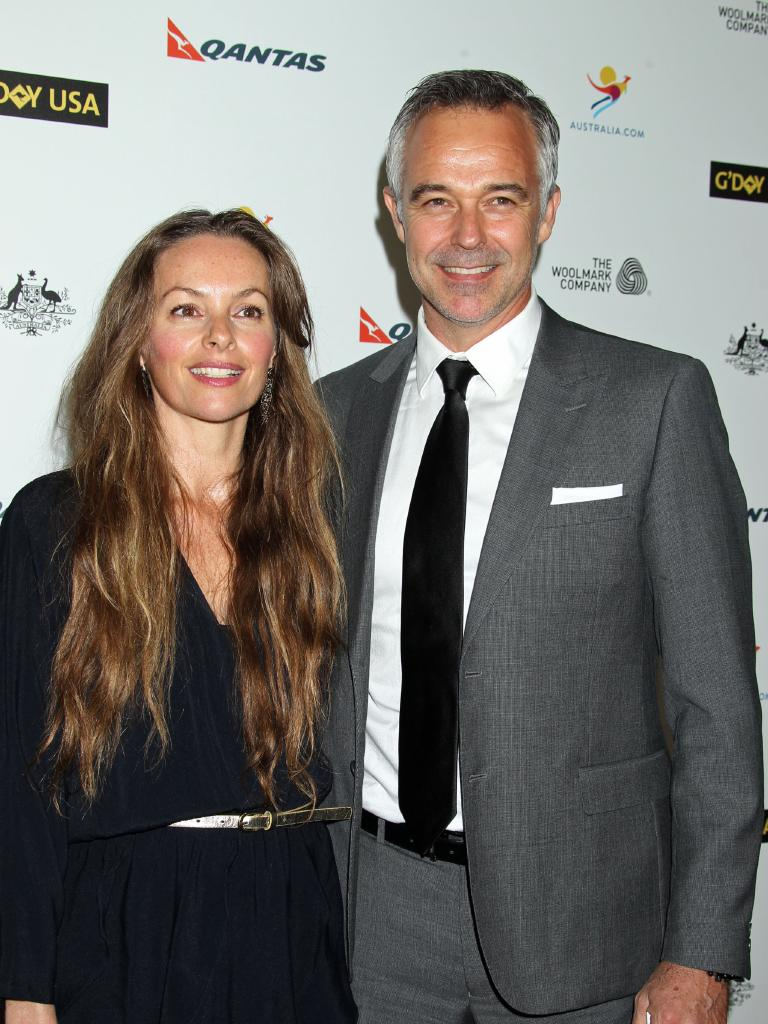 Cameron Daddo, Alison Brahe at G'Day USA in 2014. Picture: Baxter/AbacaUSA.Com