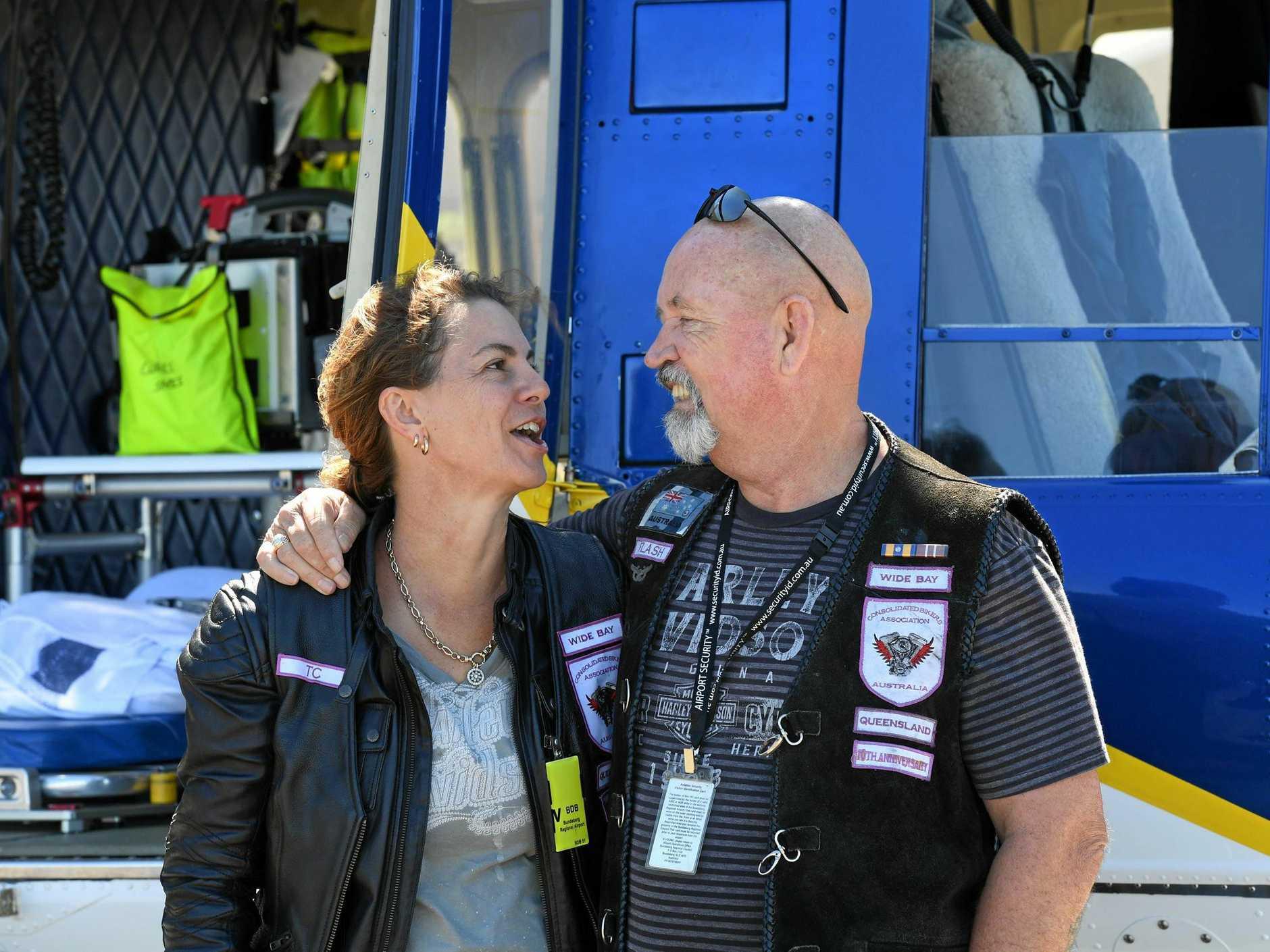 Theresa and Graham Crowden at the Life Flight Base.