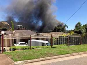 Firefighters battle house blaze