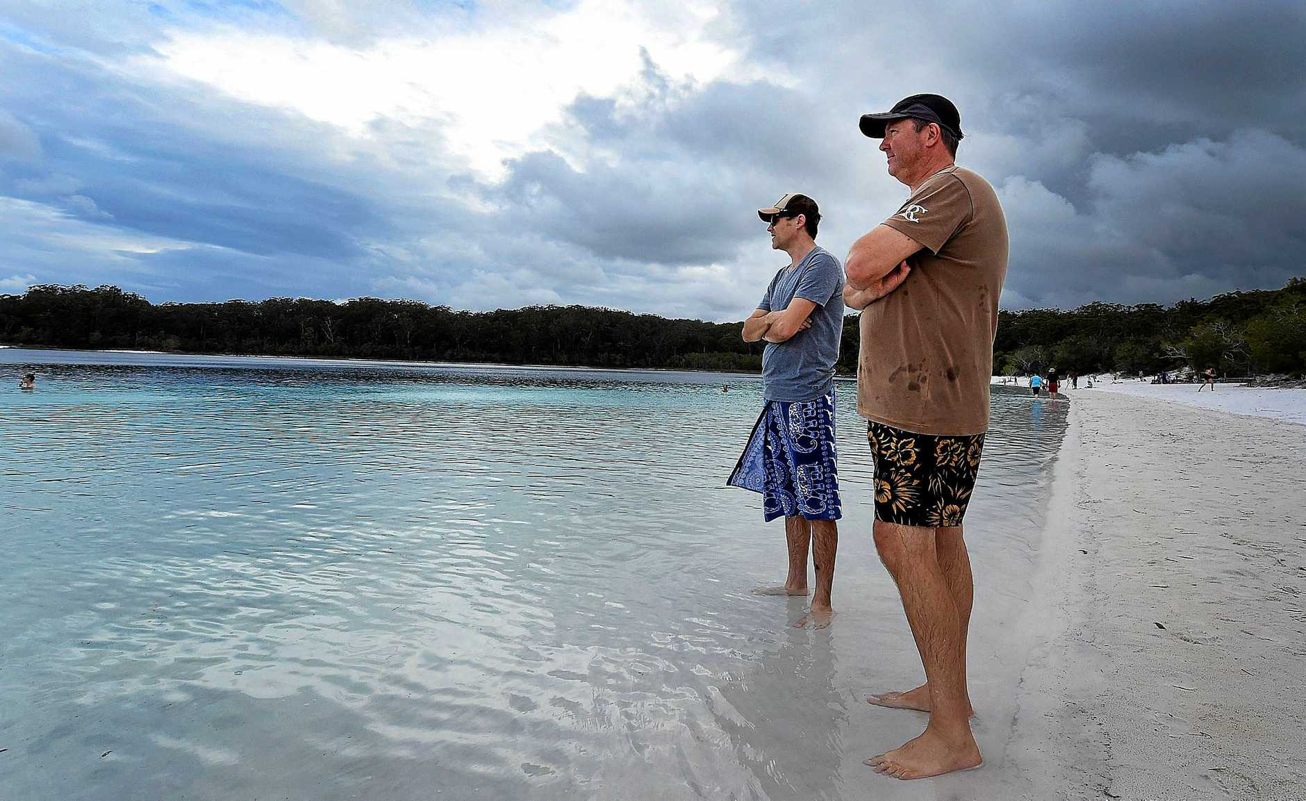 Fraser Island Drowning - Tourists Anthony Stave and Andrew Foreman at Lake McKenzie.
