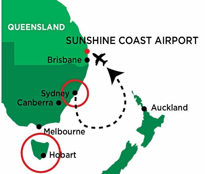 Real Weddings Tasmania: Qantas Flight Bound For Tasmania Lands On Sunshine Coast