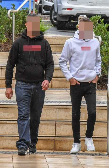 William Tyrrell's birth father (right) with his half brother at the inquest this week, said welfare authorities had 'f***ed up'. Picture: Peter Rae