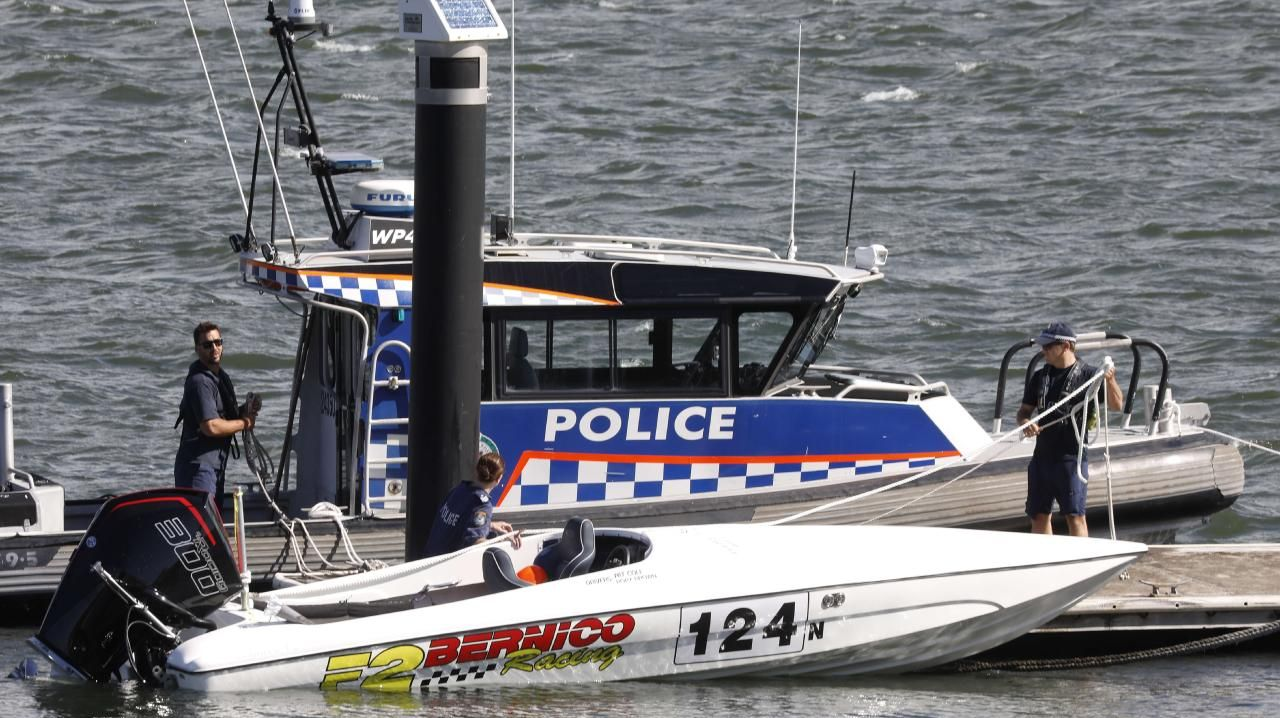 The impounded boat from a major incident on the water at Kyeemagh in Sydney's south.