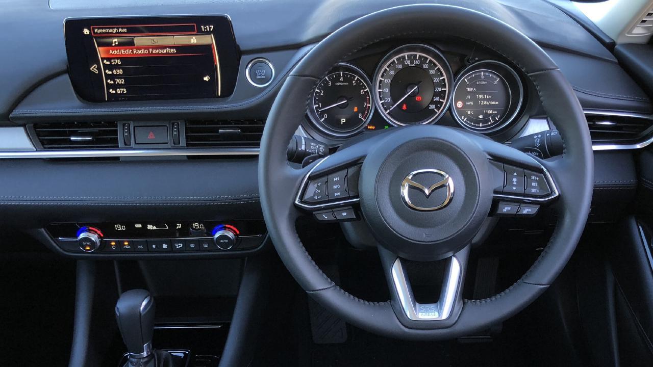 Premium interior: Seven-inch screen and leather seats