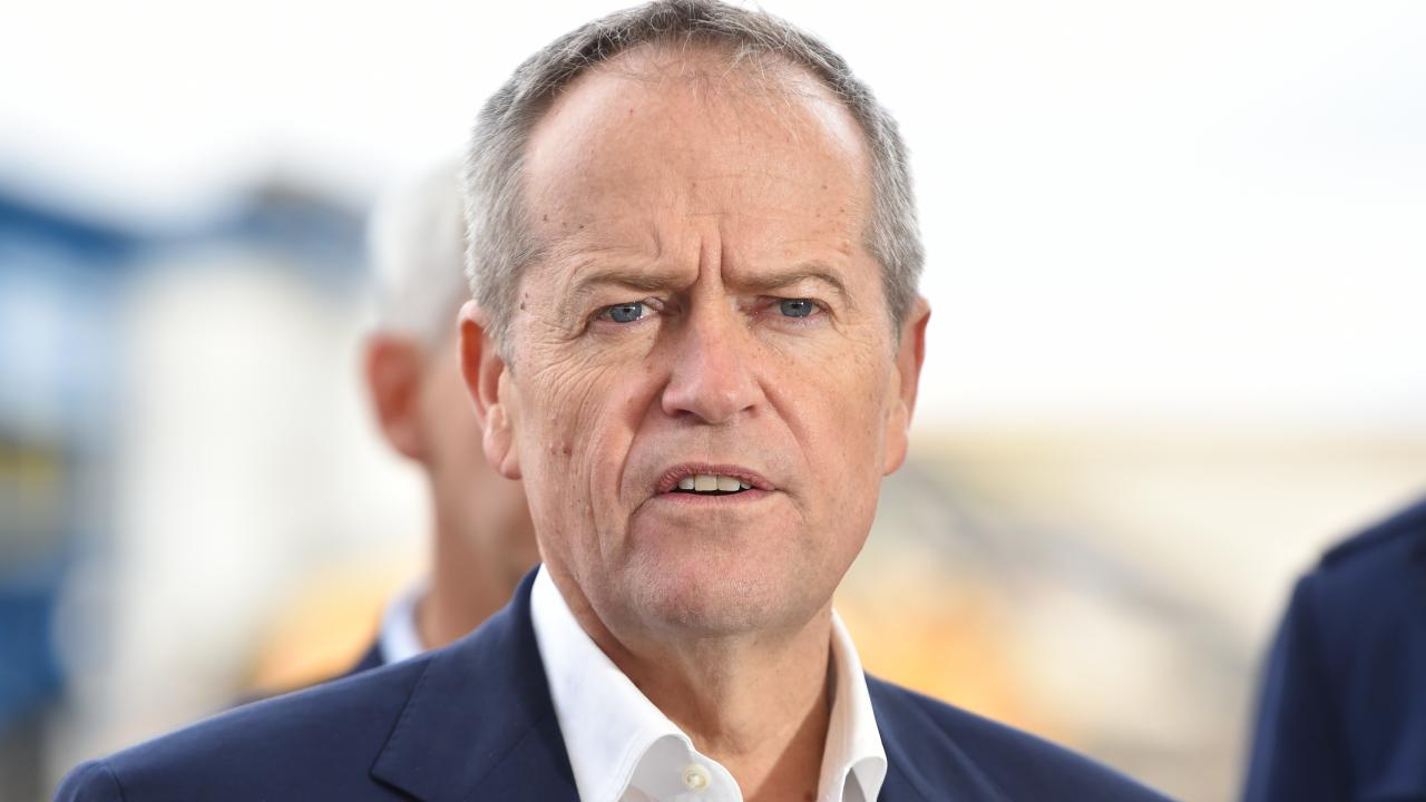 Opposition Leader Bill Shorten will announce Labor's climate change policies, which include more electric vehicles and anti-tree clearing laws. Picture: AAP/James Ross