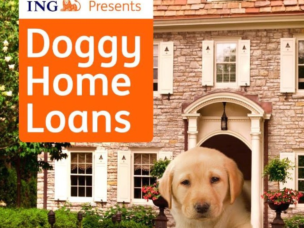 ING Australia's funny home loans for pups. Picture: Supplied