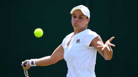 Barty won the Wimbledon junior title as a 15-year-old. Picture: Getty