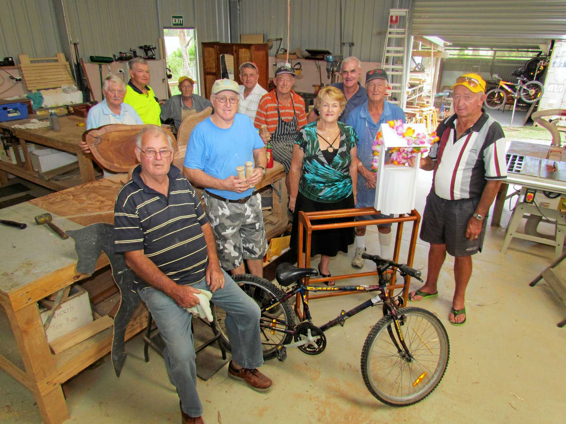 Woolgoolga Shed members used the ETC Community Support Fund to purchase a dust extractor for their workshop.