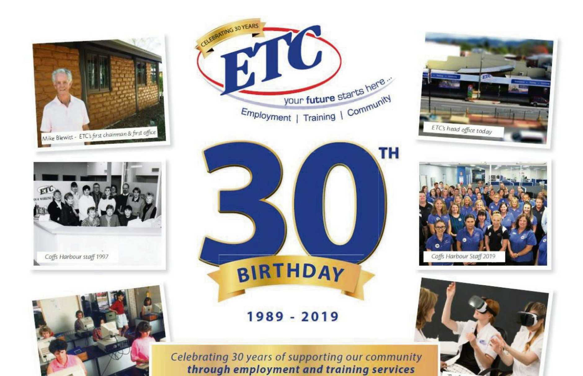 Not-for-profit ETC is celebrating 30 years in business.