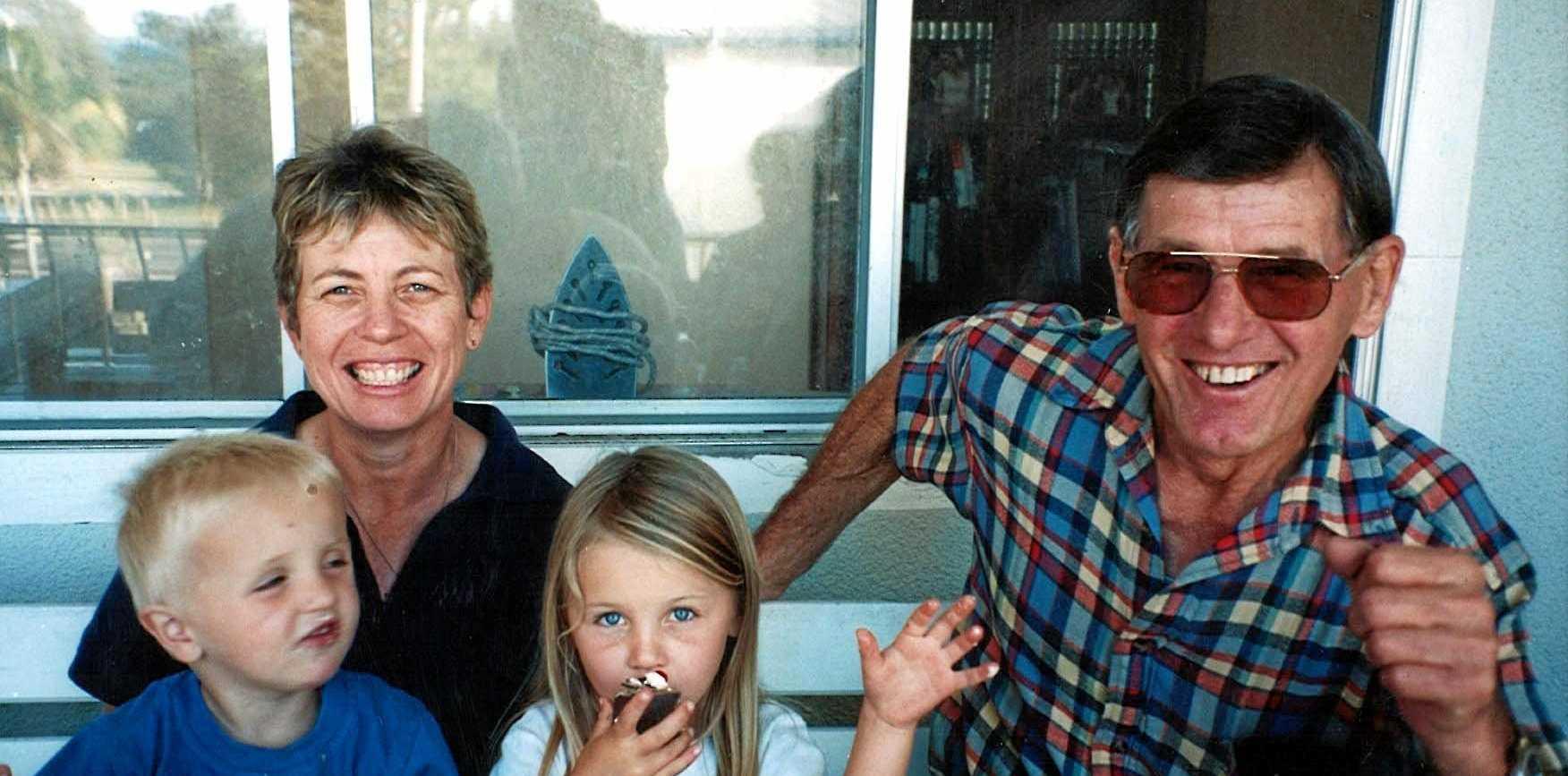 FAMILY MAN: Rhonda Van Ansem-Brooker, her grandchildren Joe and Jess with Tony Van Ansem enjoying family time.