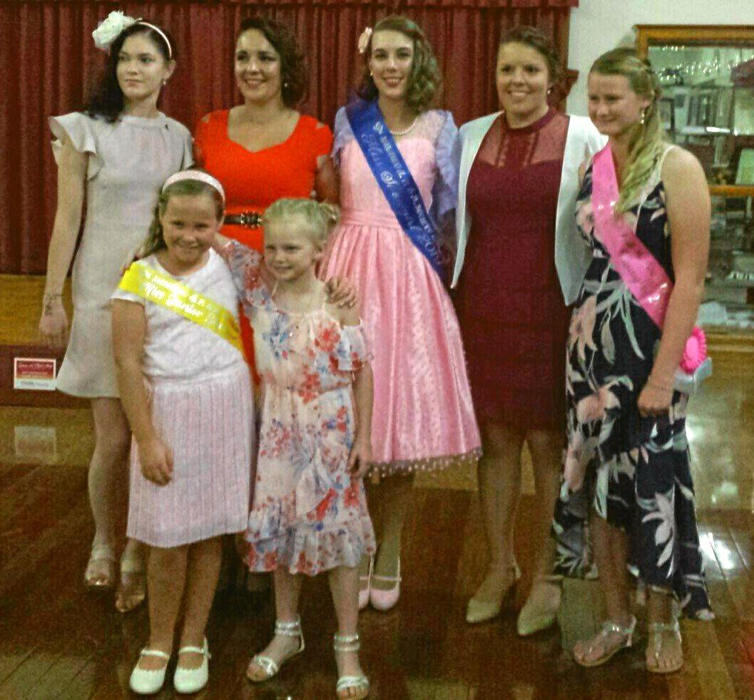 ENTRANTS: Miss Showgirl, Miss Teen, Miss Junior and the rural ambassador entrants for the 2019 Nanango Show.