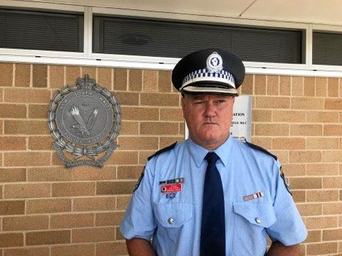 Richmond Police District crime manager, Detective Chief Inspector Cameron Lindsay outside Lismore Police Station.