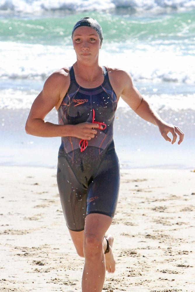 Alexandra Headland athlete Lani Pallister won the 2km Ocean swim at the Australian Surf Life Saving Championships on Sunday.
