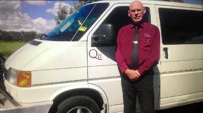 Richard Bertrand with a Queensland Funeral Transfers van