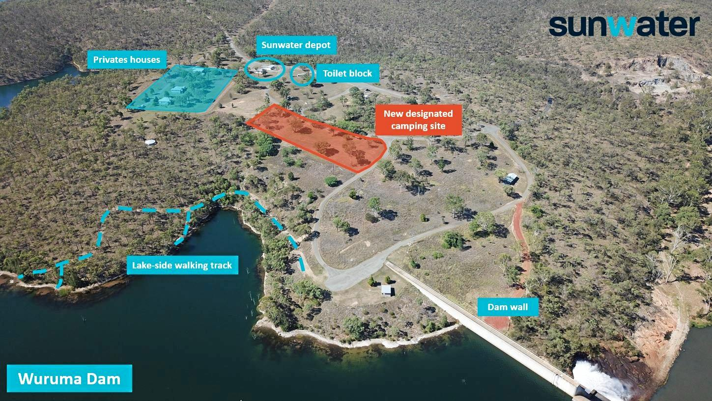 NEW GROUND: Campers at Wuruma Dam must now use the new campsite.