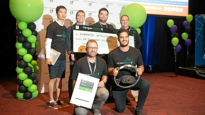 FUTURE TECH: The winning FatigueHACK team at TA2108 in Canberra, Augmented Intelligence.