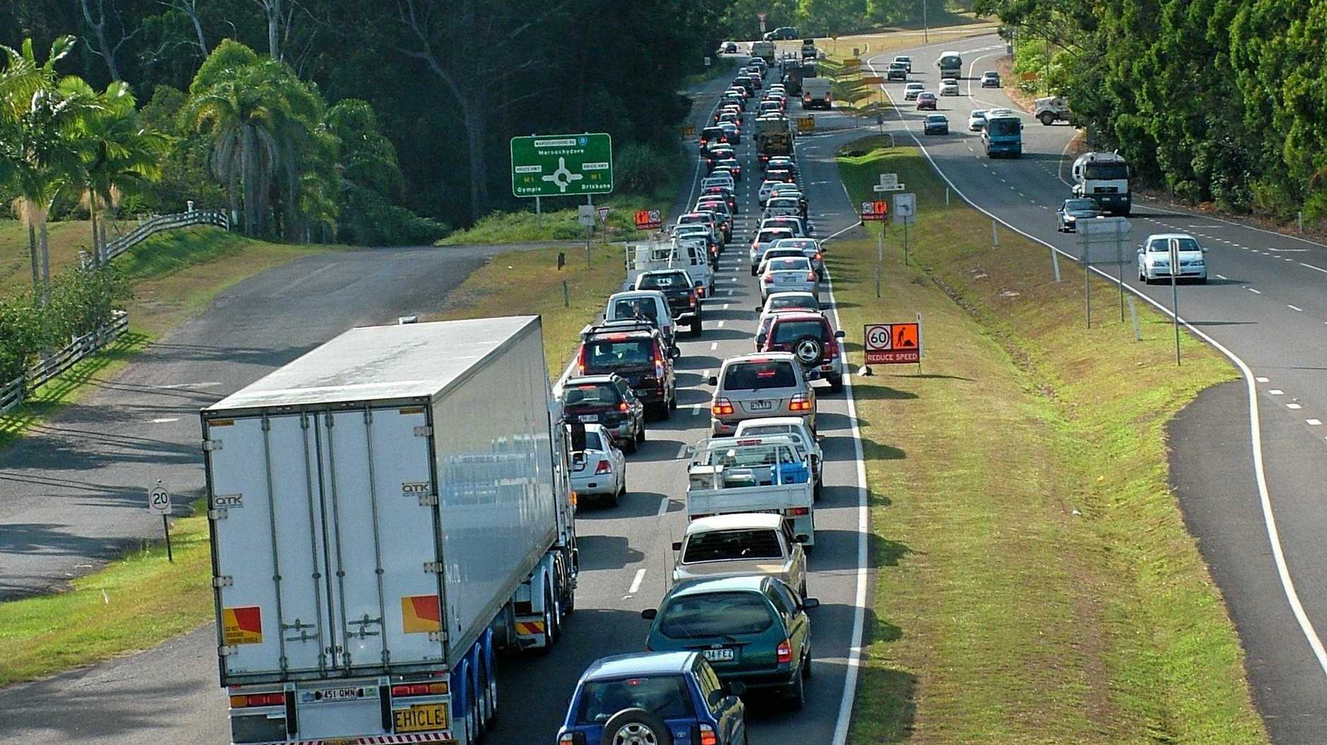 Congestion at Nambour Connection Road .