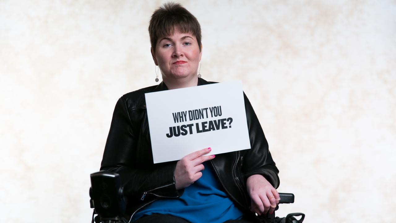 Domestic violence survivor Anj Barker features in the new series of You Can't Ask That.