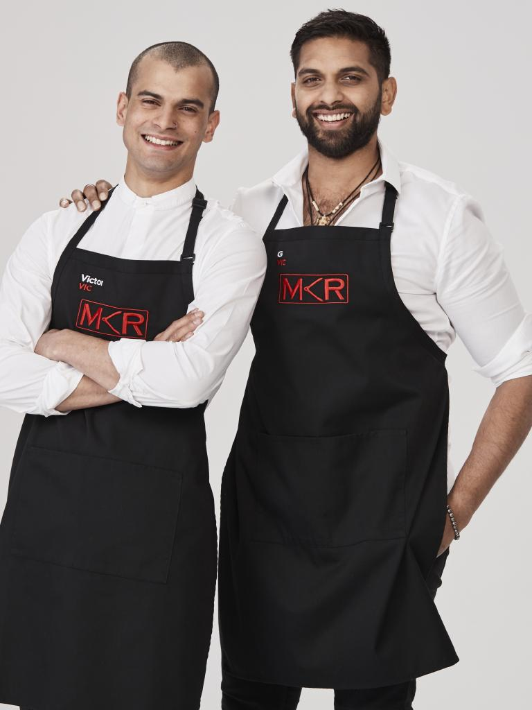 MKR contestants Victor Aeberli, 28, and G, 30