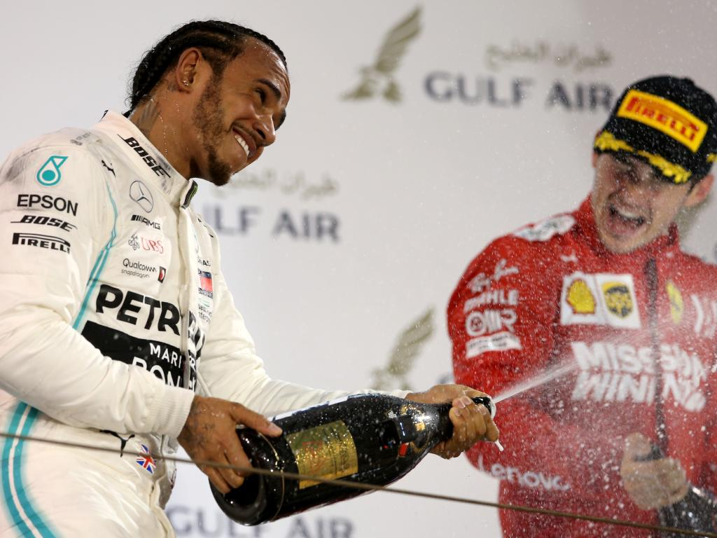 Lewis Hamilton's season is underway. (Photo by Charles Coates/Getty Images)