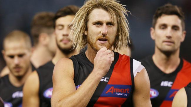 Essendon captain Dyson Heppell after the Bombers' loss to St Kilda.