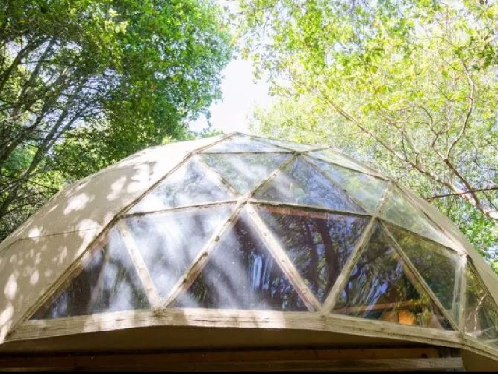 The glass dome is perfect for watching the Milky Way. Picture: Airbnb