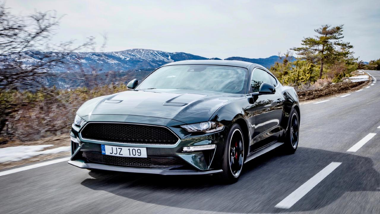 98, mate: Ford Mustang Bullitt performs better with premium fuel (overseas model shown)