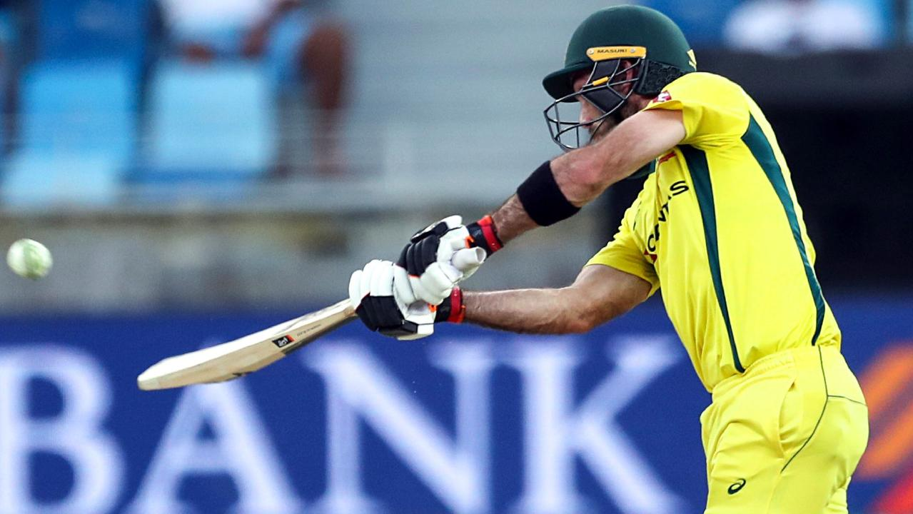 Australian cricketer Glenn Maxwell scored 70 runs off just 33 balls. Picture: Mahmoud Khaled/AFP