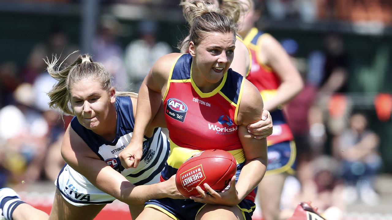Ebony Marinoff established herself as one of the game's best midfielders in 2019. Picture Sarah Reed