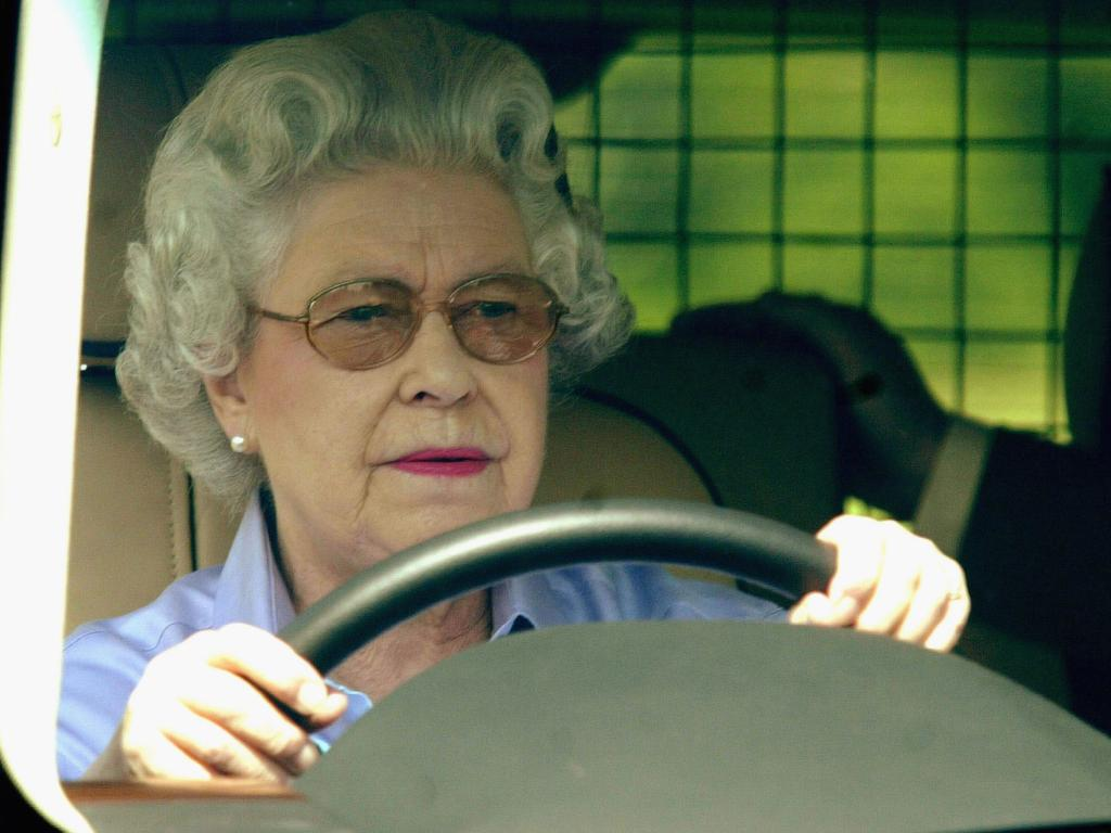 Queen Elizabeth will reportedly no longer drive on public roads. Picture: Getty Images
