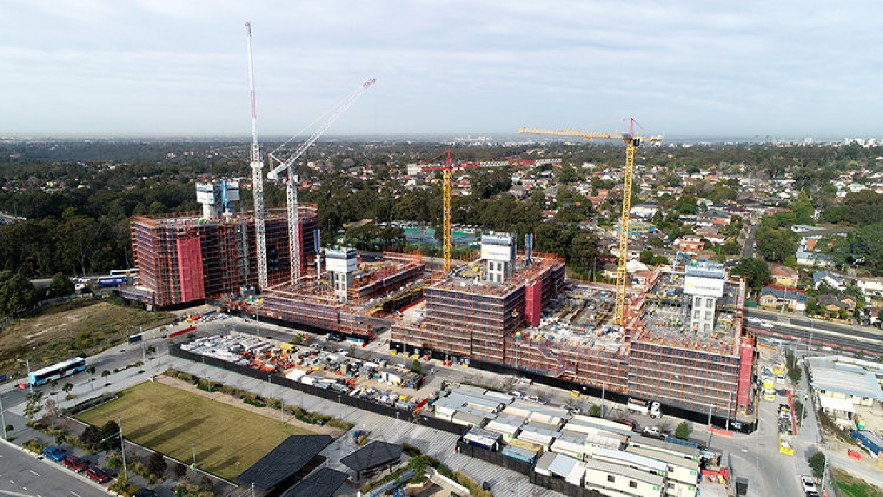 The Lachlan's Line project is a huge mixed-use development. Picture: Ganellen